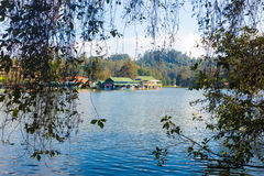 Kodaikanal Lake Boat Rowing Club Branches Framed Stock Photo