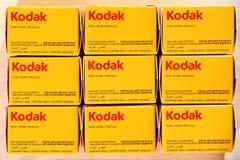 KODAKÓW filmy - analogowa fotografia obrazy stock