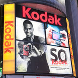 Kodak advertising at Times Square. New York City,Photo taken on April 2nd 2011 royalty free stock photo