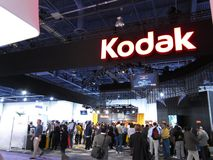 Kodak booth at CES 2010 Royalty Free Stock Photography