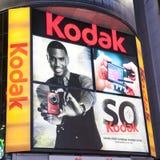 Kodak che fa pubblicità occasionalmente al quadrato Fotografia Stock Libera da Diritti