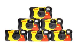 Kodak disponibel kamera Arkivfoton