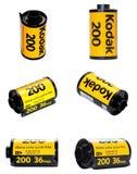 Kodak film 200 i olika sikter Arkivbild