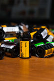 Kodak films on the wooden table Stock Images