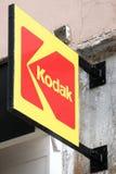 Kodak-Logo auf einer Wand stockbild