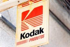Kodak-Logo auf Kodak-Speicher stockfoto