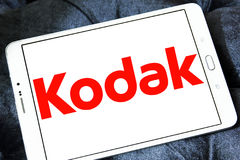 Kodak logo. Logo of camera manufacturer kodak on samsung tablet Stock Photo