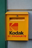Kodak mail box in front of photo shop in Interlaken Switzerland Royalty Free Stock Photography