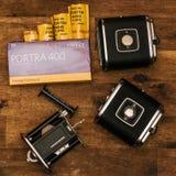 Kodak Porta 400 With Black Cases Royalty Free Stock Photography