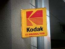 Kodak signage på byggnadsyttersida royaltyfria bilder