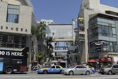 Kodak theater in California. A shot of stores and restaurants in Kodak Theater in los angeles california Stock Photography