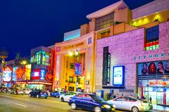 Kodak Theater Dolby where the annual Academy Award is presented. Los Angelos, California, USA - September 06, 2018: Kodak Theater Dolby where the annual Academy stock images
