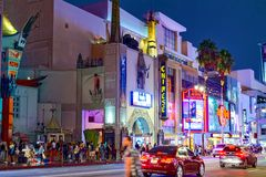 Kodak Theater Dolby where the annual Academy Award is presented. Los Angelos, California, USA - September 06, 2018: Kodak Theater Dolby where the annual Academy royalty free stock photo