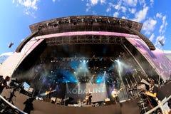 Kodaline (Irish rock band) performs at FIB Festival. BENICASSIM, SPAIN - JULY 20: Kodaline (Irish rock band) performs at FIB Festival on July 20, 2014 in Stock Image