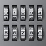 Kodieren Sie alle Zahlen Stockfotografie