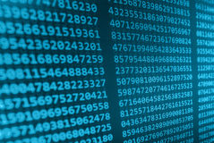 Kodierung des Programmierungsquellcodeschirmes Bunte abstrakte Datenanzeige Softwareentwicklernetz-Programmskript Stockbild