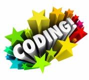 Kodierungs-Wort spielt Website-Programm-Entwickler-Ingenieur Software Co die Hauptrolle Lizenzfreies Stockfoto