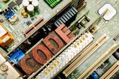 Kodifiera för att programmera för dator och framkallning royaltyfri bild