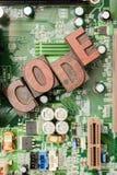 Kodifiera f?r att programmera f?r dator och framkallning royaltyfri foto