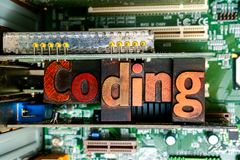 Kodifiera och reng?ringsdukframkallning L?ra att kodifiera och framkalla programvara royaltyfri foto