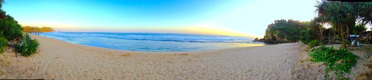 Kodok de Pantai Watu fotos de archivo