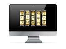 kodu komputerowa złota liczba ilustracja wektor