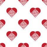 kodu miłości wzoru qr bezszwowy Fotografia Stock