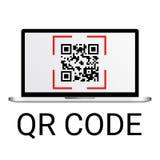 kodu qr ilustracji