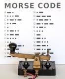 koduje ilustraci listów Morse liczb interpunkcyjnego setu wektor Fotografia Royalty Free