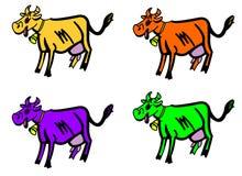 Koe. vector illustratie