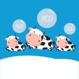 Koe en babybeeldverhaal stock illustratie