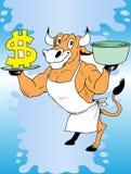 Koe en geld Stock Foto's