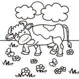 Koe-kleuring boek vector illustratie