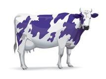 Koe in Milka-stijl Stock Foto's