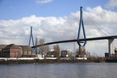 Koehlbrand-Ponte (b) Imagem de Stock