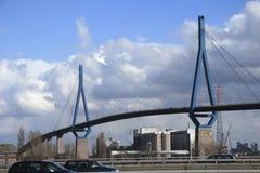 Koehlbrand-Ponte (d) Fotografia de Stock Royalty Free