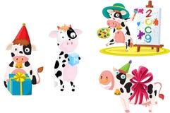 Koeien royalty-vrije illustratie