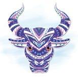 koeien, het Decoratieve schilderen Stock Afbeelding