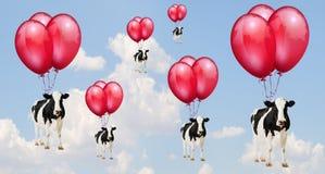 Koeien het vliegen royalty-vrije illustratie