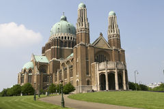 Koekelberg basilica in Brussels Royalty Free Stock Photography