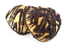 Koekje in een chocolade Stock Afbeelding