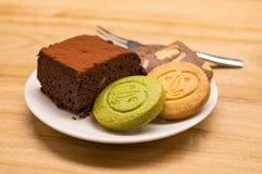 Koekje en Brownies Stock Afbeeldingen