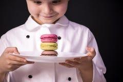 Koekje macaron stock afbeelding