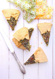 Koekje met kaas en kruiden Royalty-vrije Stock Afbeeldingen