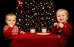 Koekjes bij Kerstmis! Stock Fotografie