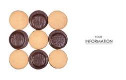 Koekjes in chocoladepatroon stock foto