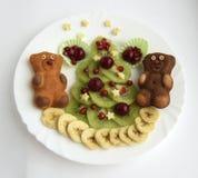 Koekjes in de vorm van beren Stock Foto
