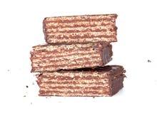 Koekjes die met zwarte chocolade worden behandeld Stock Foto