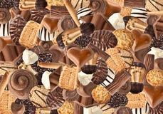 Koekjes en chocolade Stock Afbeelding