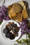 Koekjes en chocolade 06 Stock Foto's